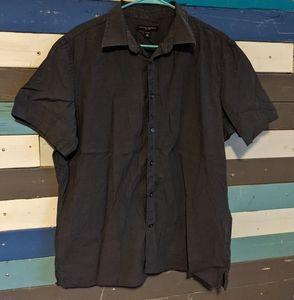 Banana Republic Men's Black Button Down Shirt